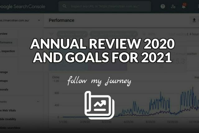 ANNUAL REVIEW 2020 AND GOALS FOR 2021 The Simple Entrepreneur header
